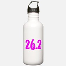26 2 marathon pink Water Bottle