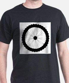Bicycle Wheel Silhouette T-Shirt