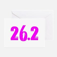 26 2 marathon pink Greeting Card