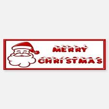 Santa: Merry Christmas Bumper Bumper Bumper Sticker
