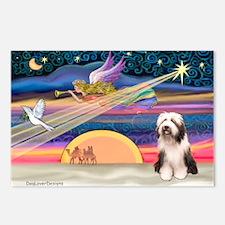 Xmas Star & Beardie Postcards (Package of 8)