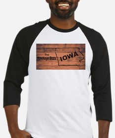 Iowa Map Brand Baseball Jersey