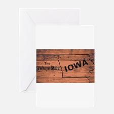 Iowa Map Brand Greeting Cards