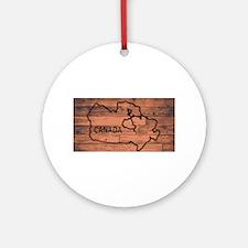 Canada Map Brand Round Ornament