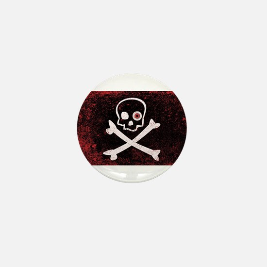 Jolly Roger With Eyeballs Mini Button