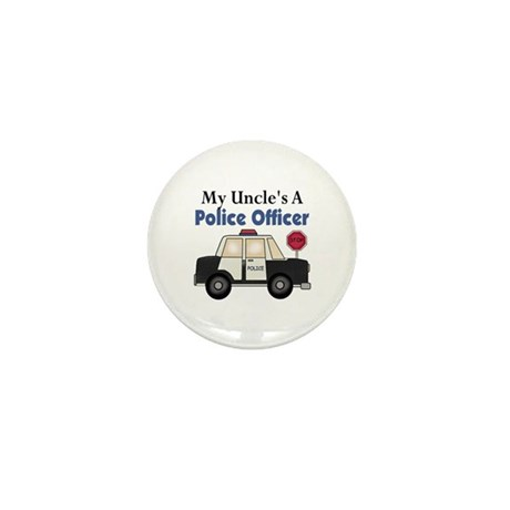 My Uncle's A Police Officer Mini Button (10 pack)