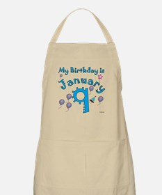 January 9th Birthday BBQ Apron