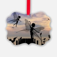 Cute fairy dancing on a jetty Ornament