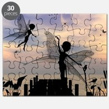 Cute fairy dancing on a jetty Puzzle