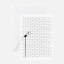 Cute Comedian microphone Greeting Card