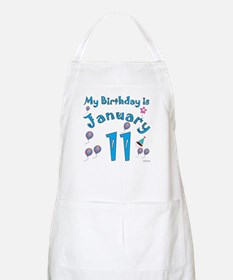 January 11th Birthday BBQ Apron