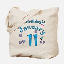 January 11th Birthday Tote Bag