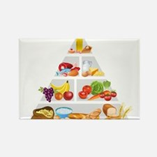 Food pyramid design art Magnets