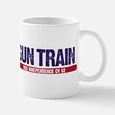 Gun Train USS Independence CV 62 Mug
