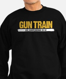 Gun Train USS Independence CV 62 Sweatshirt
