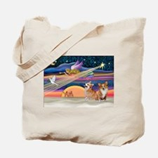 Xmas Star/2 Corgis (P2) Tote Bag