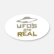 Funny Paranormal Oval Car Magnet