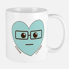 Emoji Heart Face Gift Personalized Nerd Mugs