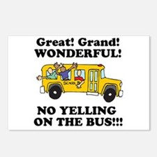 NO YELLING ON THE BUS Postcards (Package of 8)