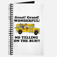 NO YELLING ON THE BUS Journal