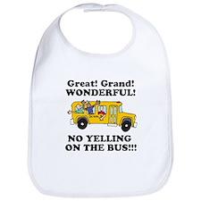NO YELLING ON THE BUS Bib