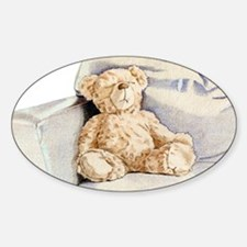 Lonely Teddy Oval Decal