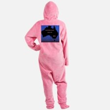 Funny Australia day Footed Pajamas