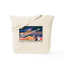 XmasStar/2 Corgis (P1) Tote Bag