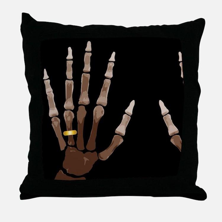 Hand Bones Throw Pillow