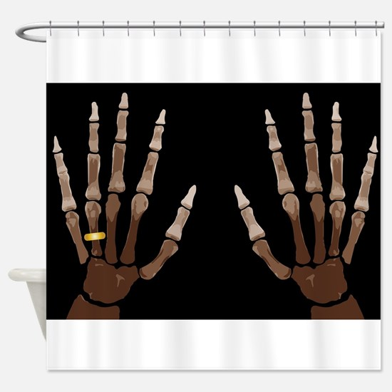 Hand Bones Shower Curtain