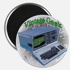 """Vintage Geek 2.25"""" Magnet (10 pack)"""