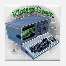 Vintage Geek Tile Coaster