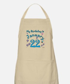 January 22nd Birthday BBQ Apron