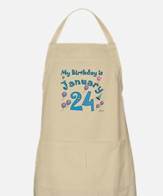 January 24th Birthday BBQ Apron
