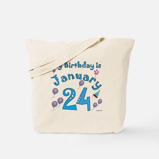 January 24th Birthday Tote Bag