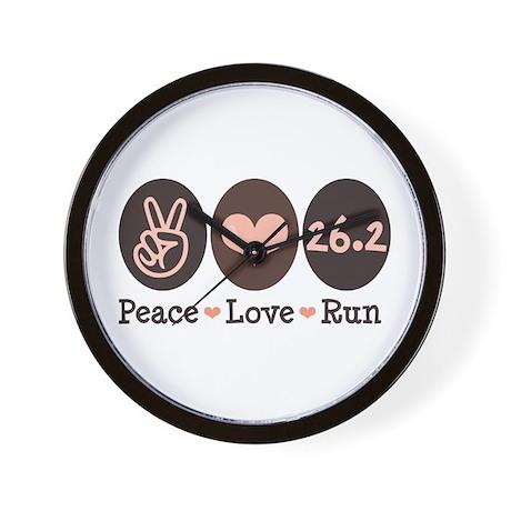Peace Love Run 26.2 Marathon Wall Clock