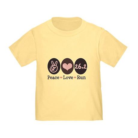 Peace Love Run 26.2 Marathon Toddler T-Shir
