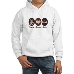 Peace Love Run 26.2 Marathon Hooded Sweatshirt