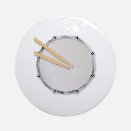 Cute Snare drum Round Ornament