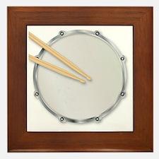 Cute Drum kit Framed Tile