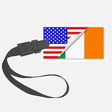 Cute Irish american flag Luggage Tag