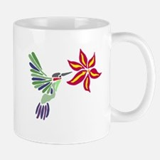 Hummingbird Abstract Mugs