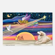XmasStar/Great Pyrenees Postcards (Package of 8)