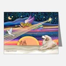 XmasStar/Great Pyrenees Note Cards (Pk of 20)