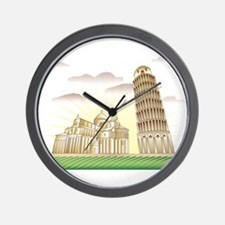 World famous Leaning tower of Pisa sigh Wall Clock