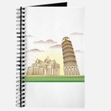 World famous Leaning tower of Pisa sight Journal