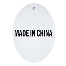 Made in China Oval Ornament