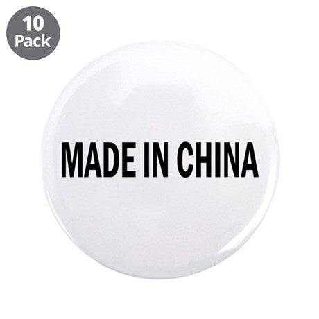 """Made in China 3.5"""" Button (10 pack)"""