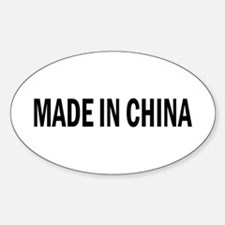 Made in China Oval Decal