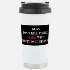 Unique People with mustaches kill people Travel Mug